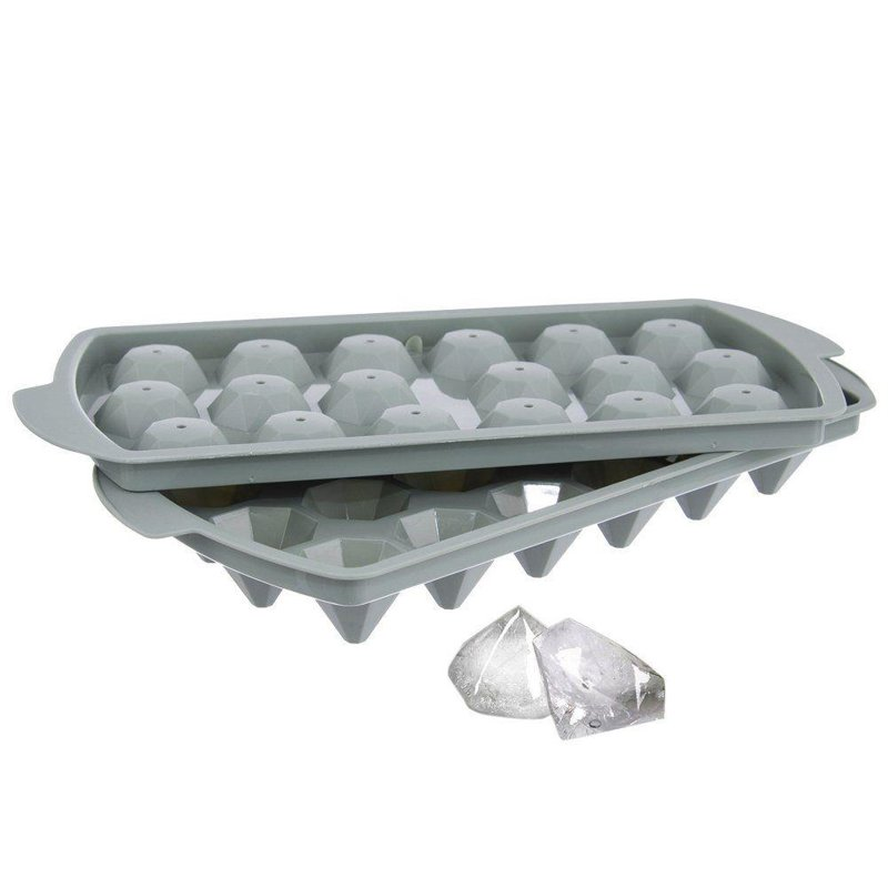 ORION Mold for ice for ice cubes with lid DIAMONDS