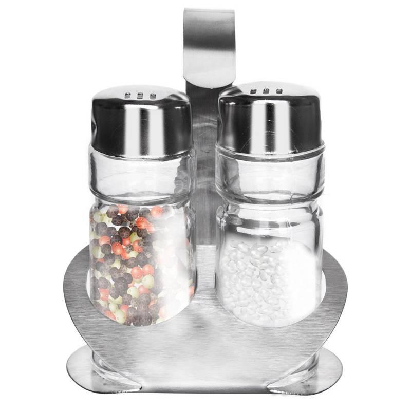 Salzstreuer + Pfefferstreuer in einem Ständer