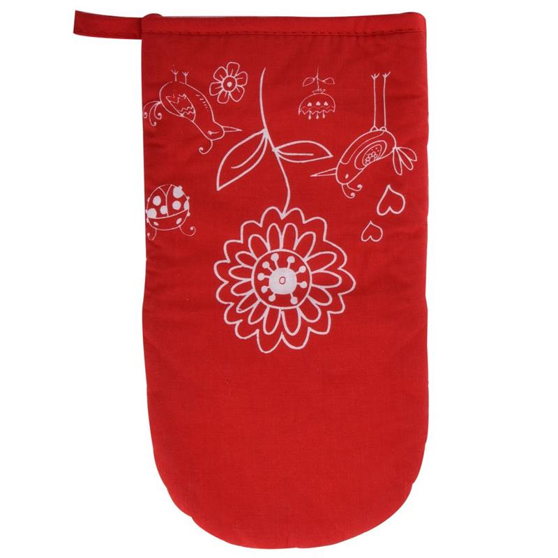 Rękawica kuchenna ochronna kwiaty teflonowa z magnesem