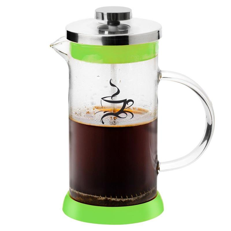 Zaparzacz imbryk dzbanek szklany z tłokiem do kawy herbaty ziół 0,6 l