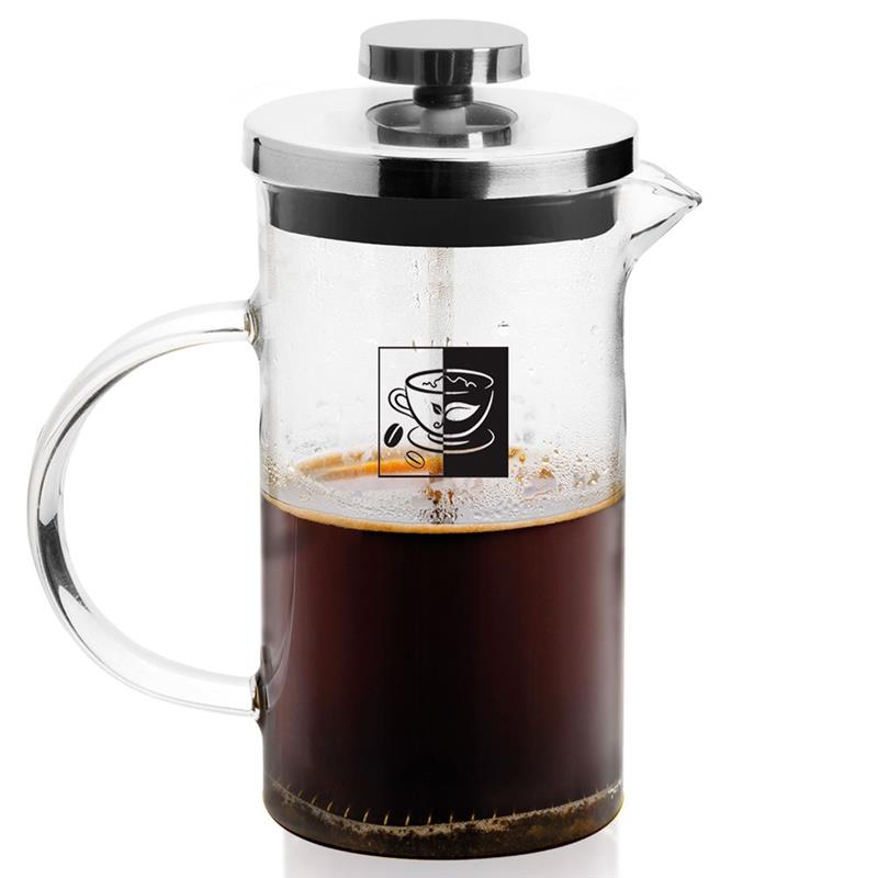 Zaparzacz imbryk dzbanek szklany z tłokiem do kawy herbaty ziół 0,8 l