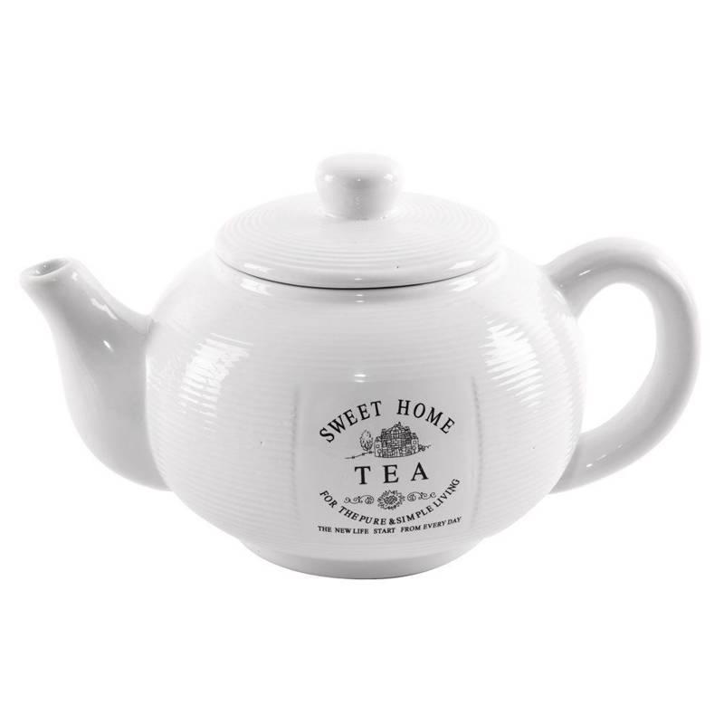Dzbanek ceramiczny z pokrywką 1,8 l SWEET HOME do kawy herbaty