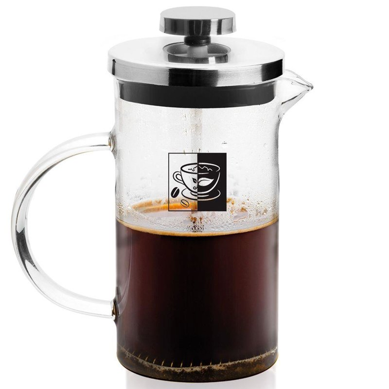 Zaparzacz imbryk dzbanek szklany z tłokiem do kawy herbaty ziół 1 l